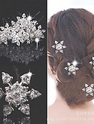 Fashion Crystal Alloy snowflake Hair Comb for Women, Weddding Hair Accessories with Rhinestones for ladies