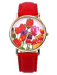 Colour Rose Women PU Leather Band   Wristwatch(Red)(1Pcs) Cool Watches Unique Watches