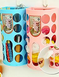 paroi créative monté des sacs à ordures en plastique de stockage boîte vendeuses stockage (couleur aléatoire)