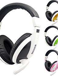 kubite t-155 casques de jeu stéréo filaire avec microphone pour pc / ps3 / PS4