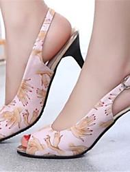 Women's Shoes Stiletto Heel Peep Toe Sandals Dress Blue/Pink/White
