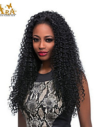 "8""-26"" Peruvian Virgin Hair Kinky curly Glueless Full Lace Wig Color Black With Baby Hair for Black Women"