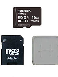 TOSHIBA 16GB Class10 40M/S Memory Card And The Memory Card And The Memory Card Adaptor Box