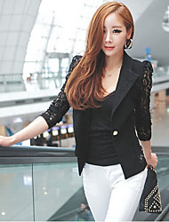 Women's Bodycon/Work Tailored Collar ¾ Sleeve Coats & Jackets (Lace)