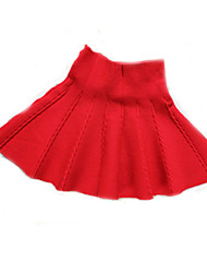 Girl's Summer/Spring/Fall Micro-elastic Medium Skirts (Wool)