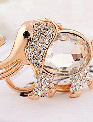 Elephant Rhinestone Wedding Keychain Favor