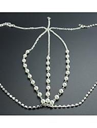 Pretty Pearl Diamond Chain Wedding/Party Headpiece