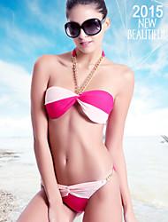 Clothin Women Sexy Chain Halter Neck Padding Swimwear Swimsuit Bikini Beach Wear
