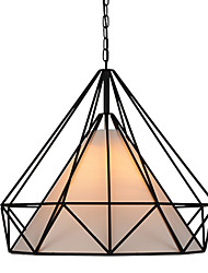 Diamond/Mini Pendant Lamp/1 Light/Modern Simplicity/Black & White/Finished/Carbon Steel/Cloth/Droplight
