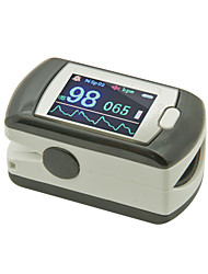 Fingertip Pulse Oximeter with Neck/Wrist Cord Color Display Alarm Rechargeable USB Line and Free Software Data Starage
