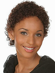 Europe And The United States Black Short Curly Wig