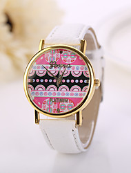 New Geneva Fashion Lady Watch Dress Watch Multi-Color Striped Anchor Faux Leather Casual Style Ladies Wrist Watches