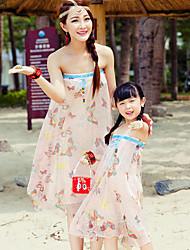 Ensembles de vêtements pour la famille Eté Sans Manches Mousseline de soie Fin Micro-élastique