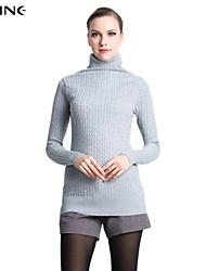 Pullover Aux femmes Manches Longues Décontracté/Mignon/Travail Viscose Moyen