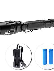 Set torcia LED UltraFire E3 focus regolabile 5-modalità Cree XM-L T6 (1600LM, 2x18650)