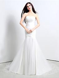 Vestido - branco Sereia Curação Cauda Média Tule