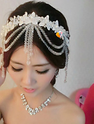 Women's Lace/Crystal Headpiece - Wedding/Special Occasion Flowers 1 Piece