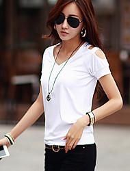 Kaman Women's Casual/Work Short Sleeve T-Shirts (Cotton)