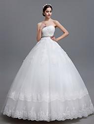 Vestido de Noiva Baile Coração Comprido Tule