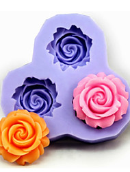 Bakeware Silicone Flower Baking Molds for Fondant Candy Chocolate Cake (Random Colors)