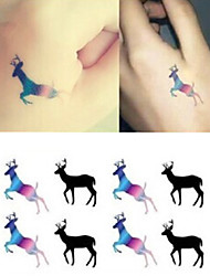 Lovely Magnificent Christmas Deer Tattoo Stickers Temporary Tattoos(1 pc)