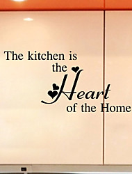 The Kitchen Ss The Heart Of The Home Quote Wall Decal Decorative Adesivo De Parede Removable Vinyl Wall Sticker