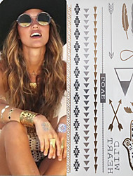 TT Sex Glitter Metal Gold Silver Flash Tattoo Stickers Temporary Tattoos(1 pc)