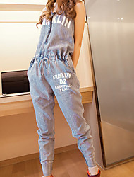Women's Thin Piece Denim Pants