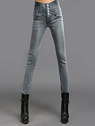 Women's High Waist Bodycon Long Jeans