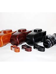 dengpin pu leer olie huid afneembare camera cover case tas voor olympus em5 Mark II met 12-50mm lens (verschillende kleuren)