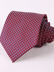 Deep Red Plaid Ties