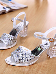 Women's Shoes Chunky Heel Slingback Sandals Dress Silver/Gold