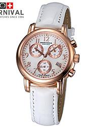 regarder le carnaval perle mode colorée dame montre à quartz 6 broches cuir multifonctionnel montre étanche