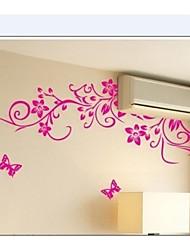 classical flor preta decoração de casa videira parede decalque zooyoo954 decorativo removível Adesivo de parede de pvc