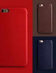 Pour Coque iPhone 7 Coques iPhone 7 Plus Coque iPhone 6 Coques iPhone 6 Plus Ultrafine Coque Coque Arrière Coque Couleur Pleine DurCuir
