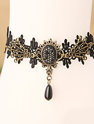 Women Fashion Body Jewelry Summer Beach Gothic Style Charm Vintage Casual Lace Retro Diamond Anklets