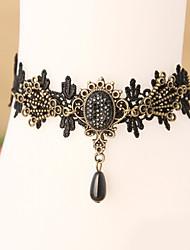 Plage d'été femmes de la mode de bijoux de corps charme de style gothique dentelle occasionnels millésime cheville rétro de diamant