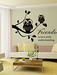 Wall Stickers Wall Decals, Style Friendship English Words & Quotes PVC Wall Stickers