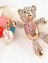 Balloon Bear Rhinestone Wedding Keychain Favor