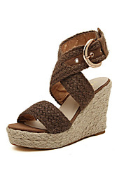 Women's Shoes Wedge Platforms Sandals and Sandals  with Buckle