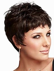personalidade da moda peruca preta curta