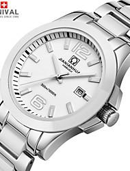 JIANIANHUA Watch Comcast Business Series Waterproof Luminous Quartz Ceramic Stainless Steel Men's Watch Flour