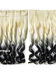 Clip on Hairpieces Synthetic Hair Extensions