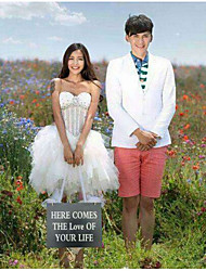 Свадьба Декор здесь приходит любовь в вашей жизни девушки цветка баннер / Photo Booth реквизита