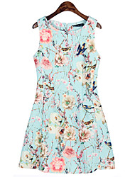 Women's Print Sleeveless Dress