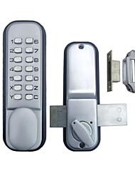 porta de vidro porta dupla de entrada keyless mechanial fechadura da porta