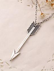 Arrow Retro Pendant Clothes Accessory Vintage/Casual Silver Plated Pendant Necklace
