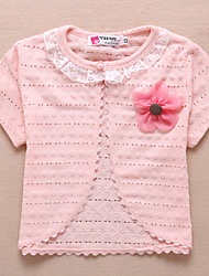 Kids Wraps Party/Casual Polyester Sweet Flower Thin Coats/Evening Jackets White/Pink/Yellow Bolero Shrug