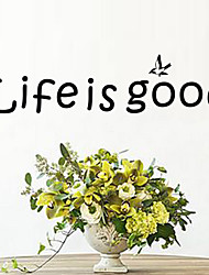 Life Is Good DIY Quote Wall Decals Zooyoo8174 Removable Vinyl Wall Stickers Home Decoration