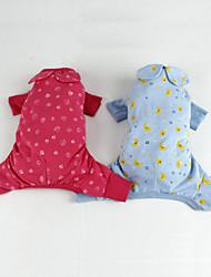 cão roupa jumpsuit roupas para cachorro produto blusa do pijama aconchegante rosa azul